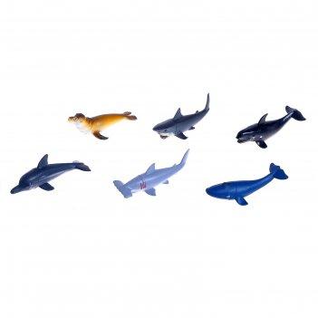 Набор морских животных подводный мир, 6 фигурок