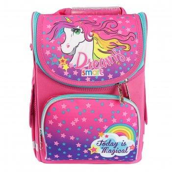 Ранец стандарт smart pg-11 34*26*14 дев unicorn, розовый 555902