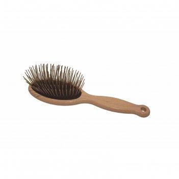 Щетка 1 all systems pin brush массажная, большая, для густой шерсти, зубцы