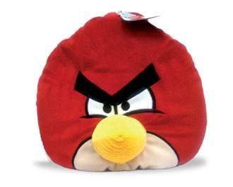 авр12, angry birds декоративная подушка красная птица