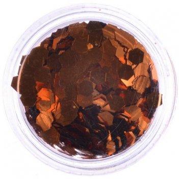 Пыль-дизайн y 296-1/8   темная бронза  (3 гр.)