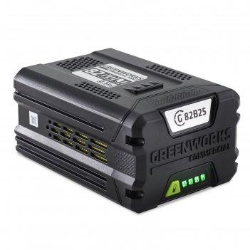 Аккумулятор greenworks g82b2 2914907, 82в, 2.5 ач, индикатор заряда