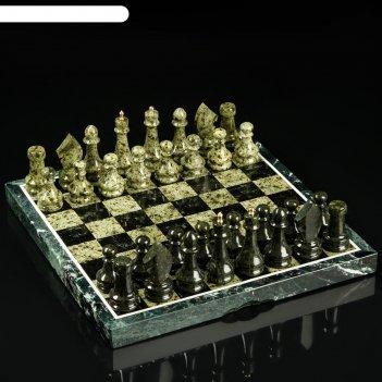 Шахматы, в подарочной упаковке, 40х400х3,5 см, змеевик