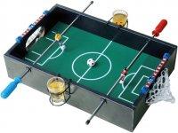 Игра настольная пьяный футбол, дерево, стекло, 2 стопки