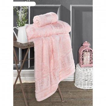 Полотенце armond 70x140 см, цвет розовый