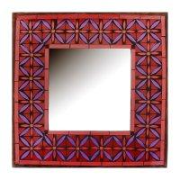 Зеркальное панно королевский узор
