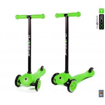 Самокат y-scoo rt globber my free fixed green с блокировкой колес