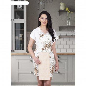 Фартук кухонный karna с салфеткой 30x50 см, 360 г/м2, цвет бежевый