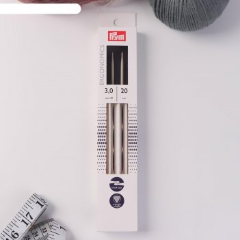 Спицы для вязания «ergonomics», чулочные, d = 3 мм, 20 см, 5 шт