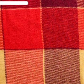 Плед шерстяной эльф, 170х210 см, желт/красн/бордо рап.1, шерсть 70%, п/э 3