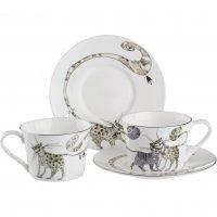 Чайный набор на 2 персоны 4 пр.кошки 200 мл.(кор...