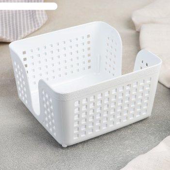 Салфетница лофт 15 см квадратная (белый)