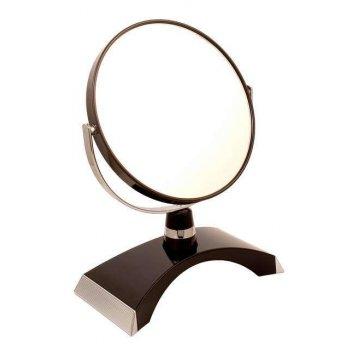 Зеркало* b6300 blk/c black настольное 2-стор. 5-кр.ув.15 см