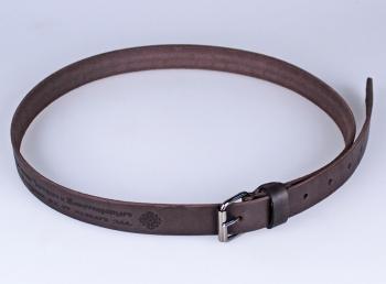 01512 пояс ремень  кожаный, однослойный, гладкий, малый. ширина 25 мм (арт