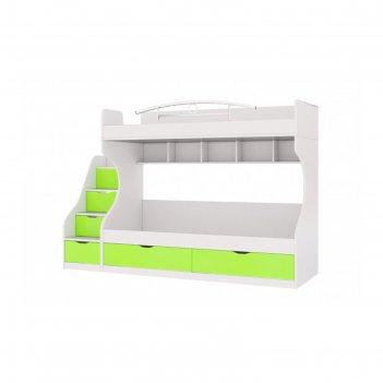 Кровать двухъярусная «сан-франциско», 80 х 200 см, цвет белый
