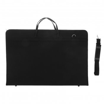 Папка а2 с ручками текстиль 650х450х40 мм «вдохновение» с карманом чёрная