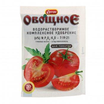 Комплексное водорастворимое удобрение с гуматом ортон-овощное для томатов,