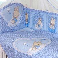 Комплект в кроватку степашка, 7 предметов, цвет голубой