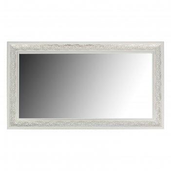 Зеркало «престиж»,  настенное белое, 63x110 см