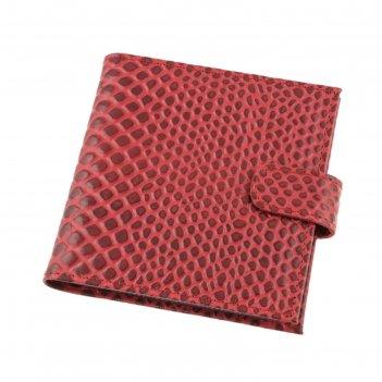 Визитница v-44-77, 12,5*1,8*12, лист на 2 визтки, 48 визиток, малиновый