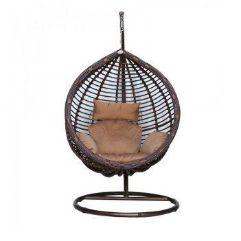 Подвесное кресло с опорой kvimol 0021, садовая мебель