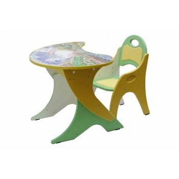 Столик с аппликацией, стульчик с регул. по высоте капелька космошкола
