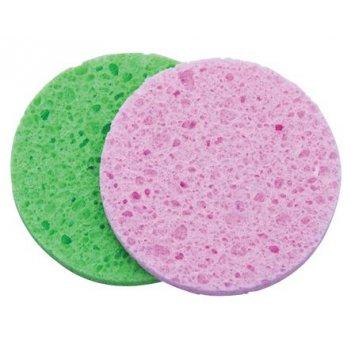 Спонж для снятия макияжа круглый цветной (2 шт) dewal n12