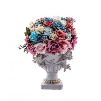 Цветы ваза малая с ангелами