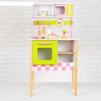 Игровой набор кухонька, посудка в наборе, высота от пола до столешницы: 29