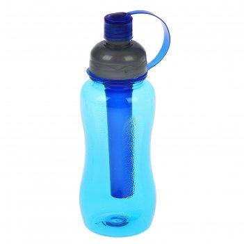 Бутылка для воды 650 мл, велосипедная, фигурная, микс, 8х23 см