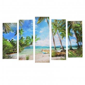 Картина модульная на подрамнике райское наслаждение (2-25х63; 2-25х70; 1-2