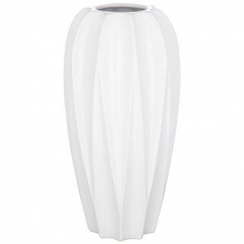 Ваза для цветов цвет:белая глазурь 15,4*30,5 см