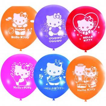 Шар латексный 12 hello kitty, пастель, декоратор, 2-сторонний, набор 50 шт