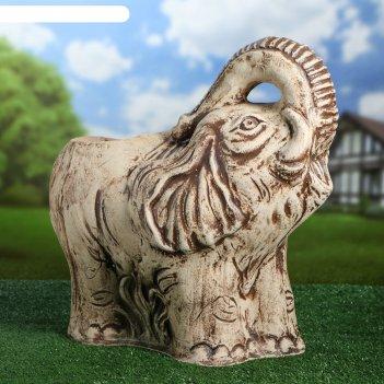 Садовая фигура с кашпо слон большая
