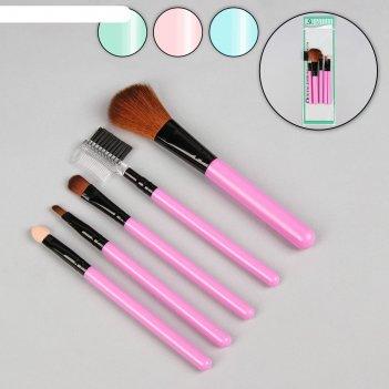Набор кистей для макияжа «соблазн», 5 предметов, цвет микс