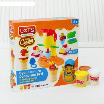 Тесто для лепки машина мороженого, 4 цвета по 75 г, 16 форм
