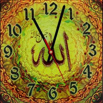 Картина сваровски - часы аллах солнечный