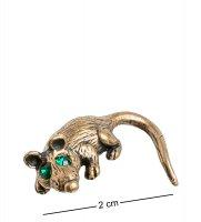 Am-1064 фигурка-кошельковая мышь-хранительница (латунь, янтарь)