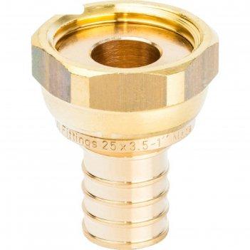 Переходник аксиальный stout sfa-0019-002510, с накидной гайкой 25x1 наружн