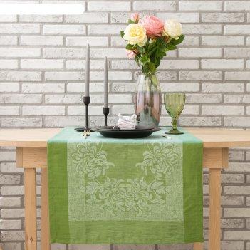 Дорожка на стол этель лён «оливи» 50x155 ± 3 см, 100% лён