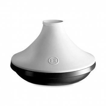 Тажин, объем: 2 л, диаметр: 27,5 см, материал: керамика, цвет: графит, бел