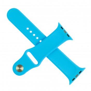 Ремешок для часов , 42 мм, l=24 см, голубой, силикон