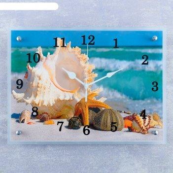 Часы настенные, серия: море, обитатели морского дна, 30х40 см микс