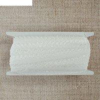 Резинка с ажурным краем, ширина 1 см, 10 м, цвет белый