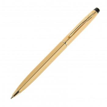 Ручка шариковая pierre cardin gamme, латунь, золото, стержень синий (pc080