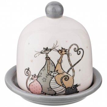 Лимонница с крышкой коллекция счастливое семейство 9,8*9,8*8,5 см (кор=48