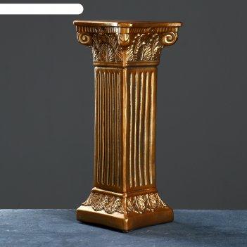 Колонна античная, бронза 65х27см