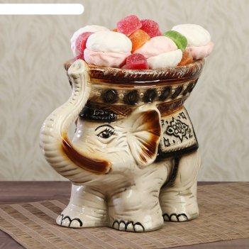 Конфетница слон большая