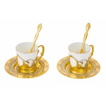 Набор кофейный доброе утро на 2 персоны (2 тарели d110, 2 чашк