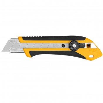 Нож olfa ol-xh-1, двухкомпонентный корпус, трещеточный фиксатор, 25 мм
